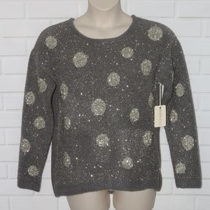 NWT Margeaux & Ellie Sz M Gray Christmas Sweater
